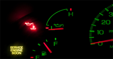 Symptoms of a failing oil pressure sensor